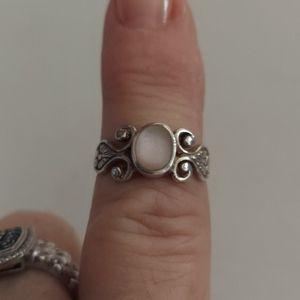 925 pink mop ring